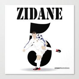Zidane 5 Canvas Print