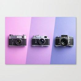 Multiple vintage cameras Canvas Print