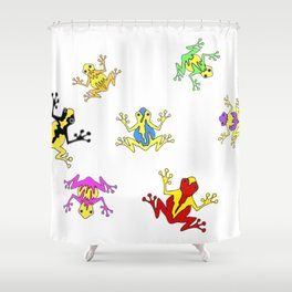 Frogs toads Super Colorful Cute Shower Curtain