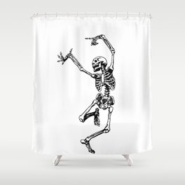 DANCING SKULL Shower Curtain