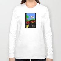bible verses Long Sleeve T-shirts featuring 8-bit Bible by Jim Lockey