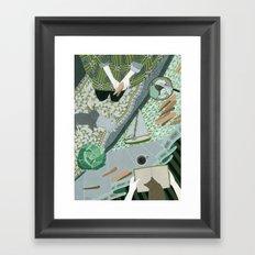 Carrot picnic Framed Art Print