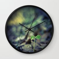 clover Wall Clocks featuring Clover by Love2Snap
