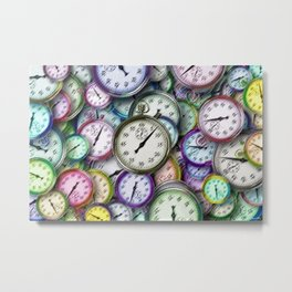 Time's Up Portrait Painting by Jeanpaul Ferro Metal Print