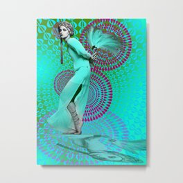 Supermodel Donna 1 - Supermodels of the Sixties Series Metal Print