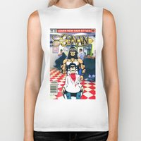 conan Biker Tanks featuring CONAN THE BARBERER by i live