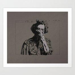 Justin Vernon - Bon Iver Art Print