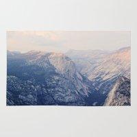 yosemite Area & Throw Rugs featuring Yosemite Beauty  by Tara Yarte