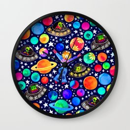 Galaxy of the 70's Wall Clock