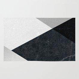 Geometrics - marble & silver Rug