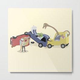 BandNames : Dinosaur Pile-Up Metal Print