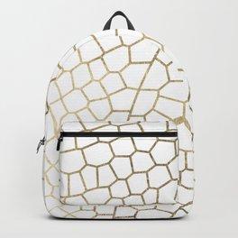 Modern abstract elegant gold geometric pattern Backpack