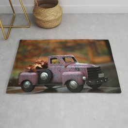 Leaves in Toy Truck Rug