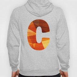 Letter C - Capital Wood Alphabet Hoody