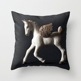 Pegasus Lights the Dark Throw Pillow
