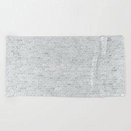 White Washed Brick Wall Stone Cladding Beach Towel