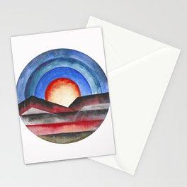 Geometric landscapes 01 Stationery Cards