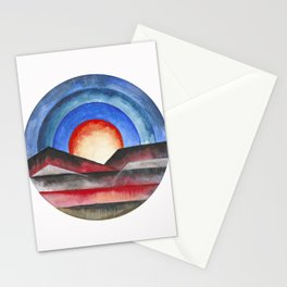 Geometric landscapes 01 Stationery Cards