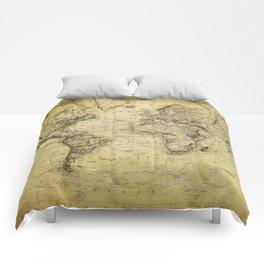 World Map 1814 Comforters