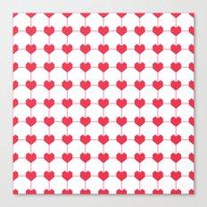 Heart Grid Canvas Print