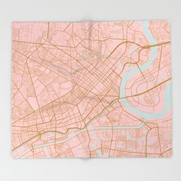 Ho Chi Minh map, Vietnam Throw Blanket