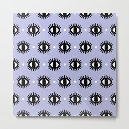 Purple Eyes Pattern Metal Print