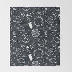 Space Doodles Throw Blanket