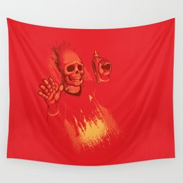He's Dead Jim Wall Tapestry