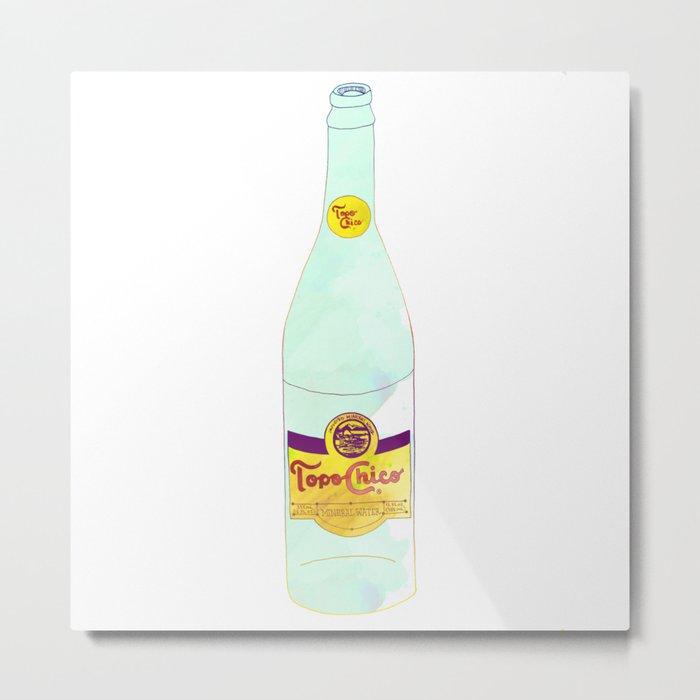 Topo Chico Sparkling Water Seltzer Bottle Metal Print
