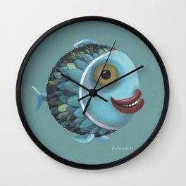 pisces (green) Wall Clock