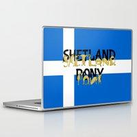 pony Laptop & iPad Skins featuring Shetland Pony by mailboxdisco
