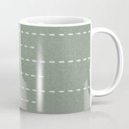 boho stitched stripes - sage Coffee Mug
