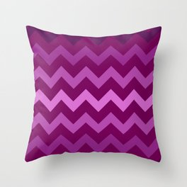 Very Berry Chevron Throw Pillow