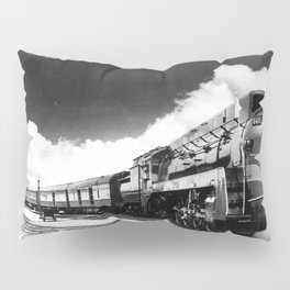 CN Trains pulling Royal Tour cars -Trains du CN tirant les voitures de la tournée royale  Pillow Sham
