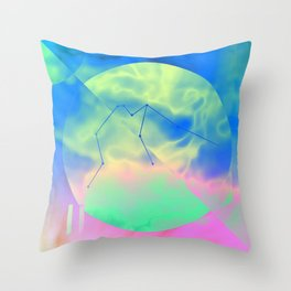 AQUARIUS (ASTRAL SIGNS) Throw Pillow