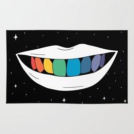 Rainbow teeth Rug