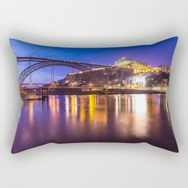 Porto at night Portugal Rectangular Pillow