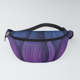 Purple and dark blue background Fanny Pack
