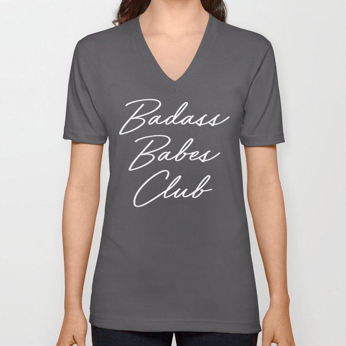 Badass Babes Club 1 Unisex V-Neck