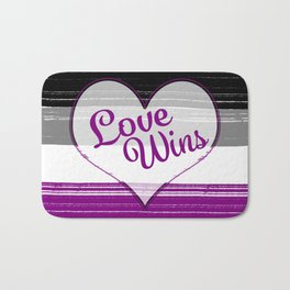 Asexual Gay Pride-Love Wins Design Bath Mat