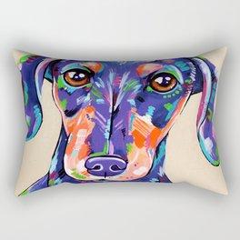 Peanut - Daschund Sausage Dog Art Rectangular Pillow