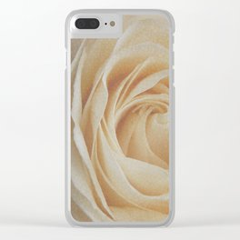 Tea rose Clear iPhone Case