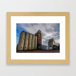 Grain Elevator, Beach, North Dakota Framed Art Print
