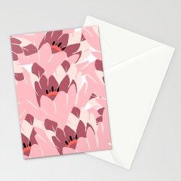 Hand painted burgundy blush pink floral illustration Stationery Cards