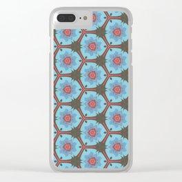 Vintage Blue Clear iPhone Case