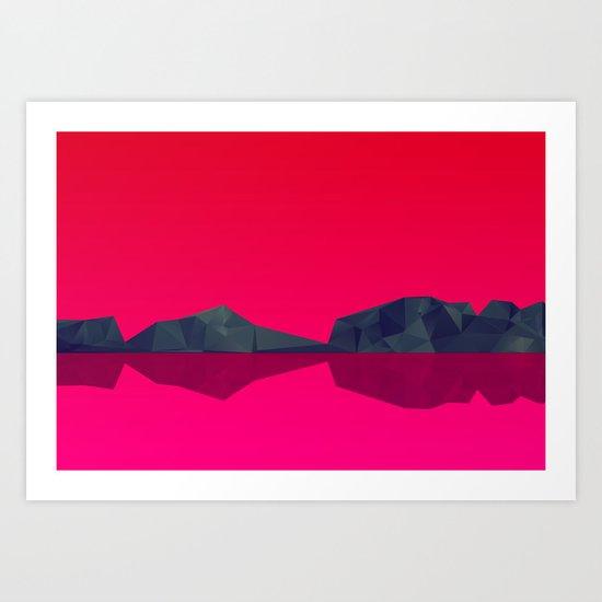 Landscape study 02. Art Print