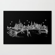 New York, New York City Skyline Canvas Print