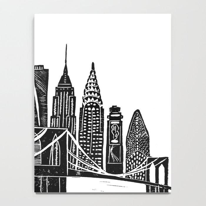 Linocut New York Notebook