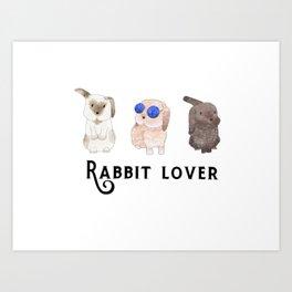 Rabbit lover Art Print