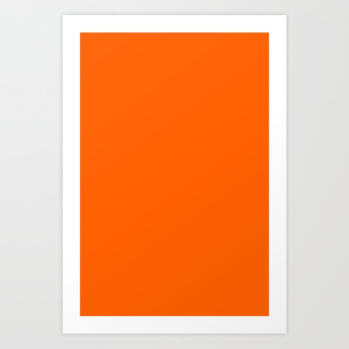 Solid Orange Kunstdrucke